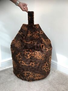 Superb Details About Cover Only Bean Bag Faux Fur 3 Cubic Ft Size Animal Print Children Baby Giraffe Evergreenethics Interior Chair Design Evergreenethicsorg