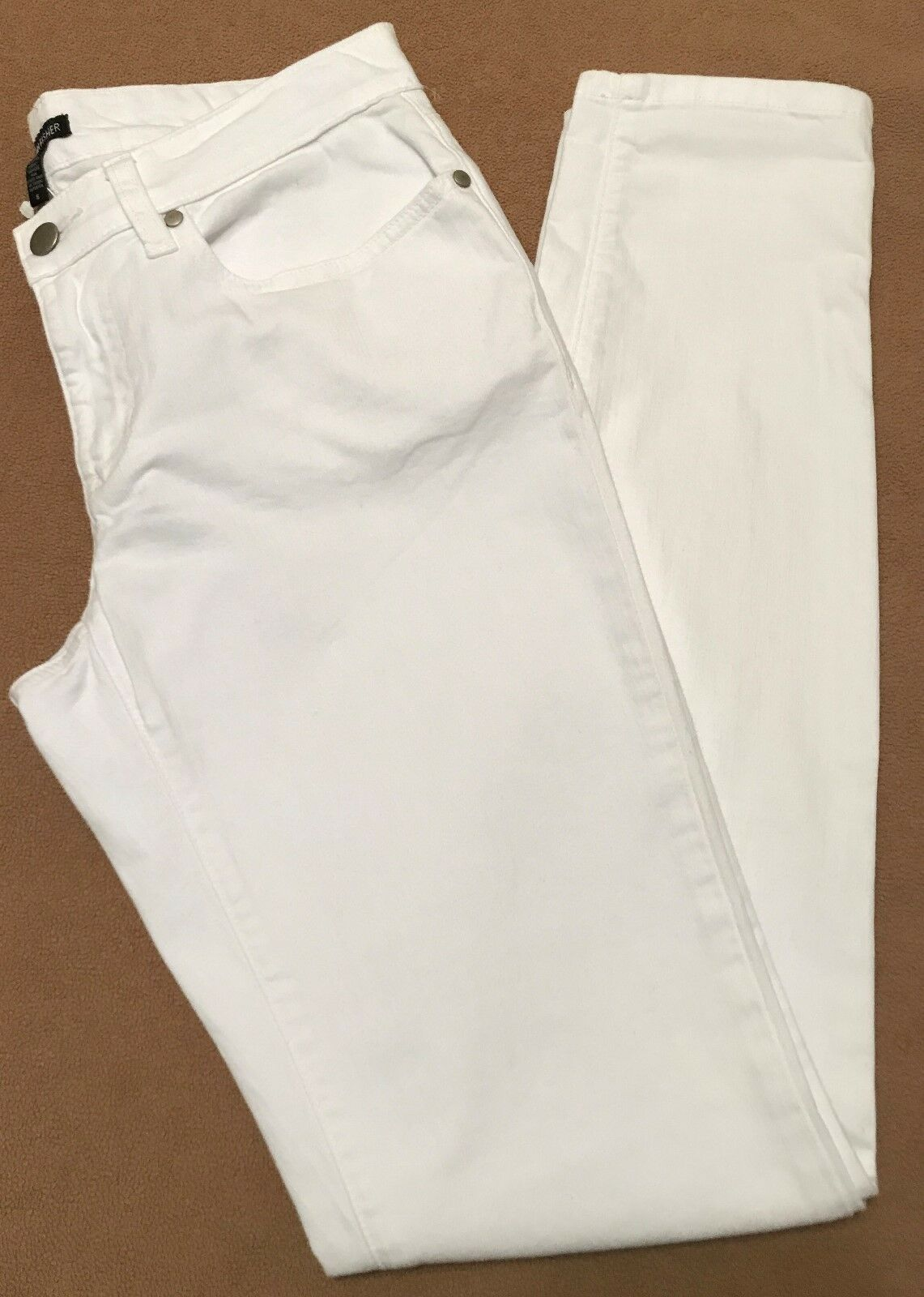 Eileen Fisher White Jeans Size 6 or 10 NWT Skinny Organic Cotton Stretch Denim