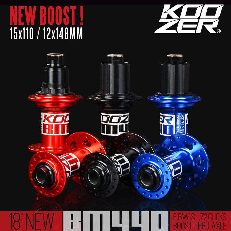 KOOZER BM440 BOOST Hub Set 32H Shimano Sram Thru Axle 15X110 12X148mm