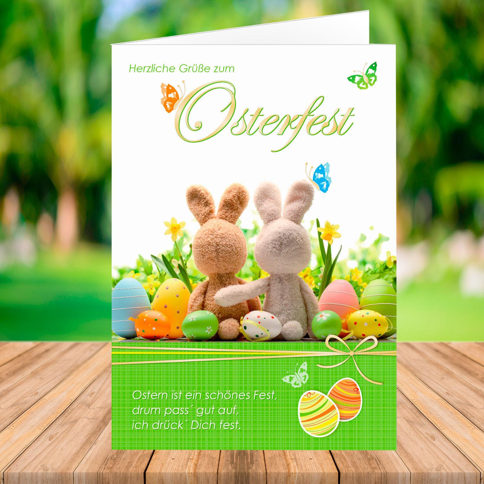 10   20   50   100 PREMIUM Osterkarte mit Umschlag - Grußkarte Ostern   Fein Verarbeitet    Clearance Sale