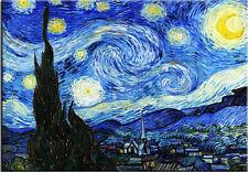 Die Sternennacht-Vincent van Gogh-Leinwandbild Kunstdruck 90x60cm Sofort Versand