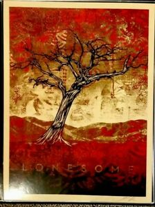 Shepard Fairey Obey LONESOME AMERICANA Signed Numbered Screen Print