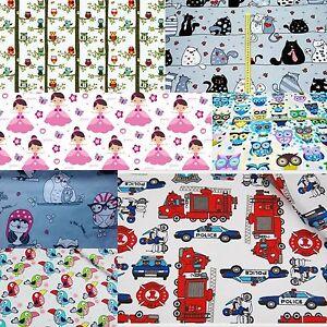 9178c1676114c Details about Children Fabric Nursery Kids Baby 100% COTTON Material Boy  Girl Owls Princess