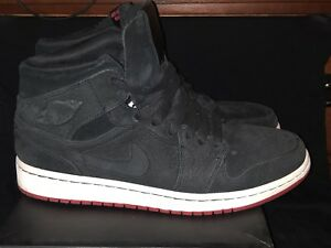 info for a2b72 b41b2 Image is loading Air-Jordan-1-Mid-Nouveau-Black-Gym-Red-