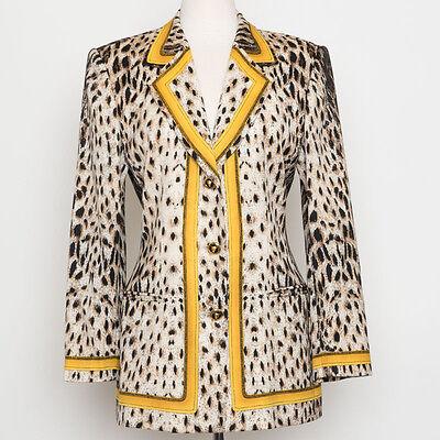 8ce4db8736b7 ... Velvet Embellished Beaded 1980s Jacket. ruthevanna23. Vintage ESCADA  Margaretha Ley Leopard Animal Print Wool Blazer Size 38 (US 8)