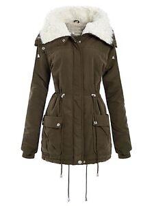 Jackets New Cargo Coats Khaki Fleece Long Neck Ladies Curve Parka Cuff 24 Sleeve 18 Tv6TZq