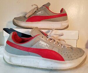 best service f9782 8ec1f Puma GV Special Jr Grey/Red/White Leather Shoes Boys Sz 5 | eBay