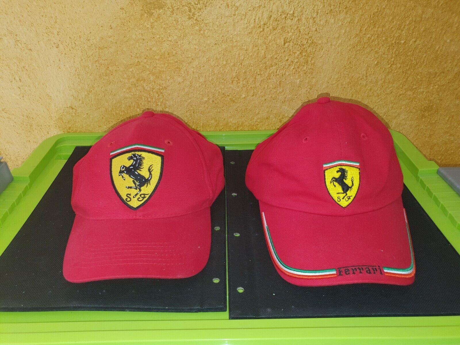 2 Ferrari base cap vintage aus meine Sammlung sehr gute zustand neu nie getragen