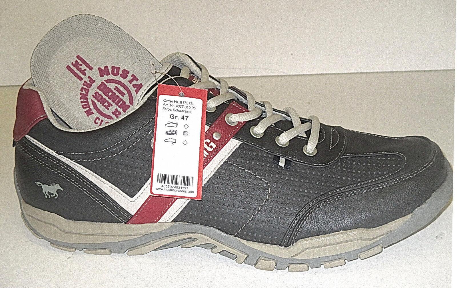 Mustang Herren Schuhe Sneakers, Art. 4027-310-95. IN ÜBBERGRÖßE  +++NEU+++
