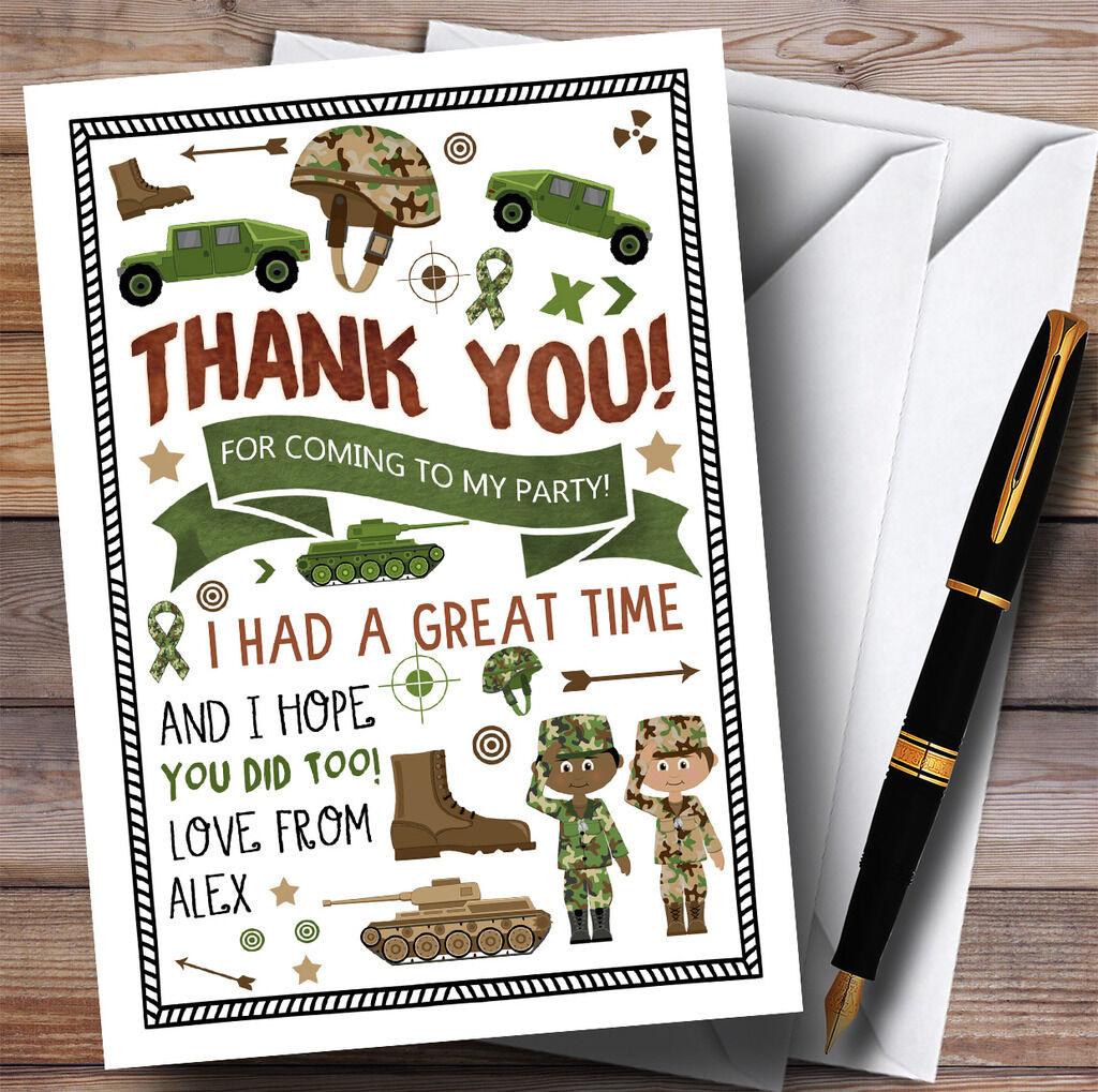 Esercito Mimetico Soldato Festa Festa Festa Ringraziamenti aa00c4