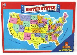 Mb rand mcnally map of the united states puzzle w world map on image is loading mb rand mcnally map of the united states gumiabroncs Gallery