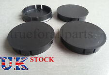 4x Wheel Rim Center Cap Black fit VW BMW AUDI SKODA OPEL SEAT 60mm dia Universal