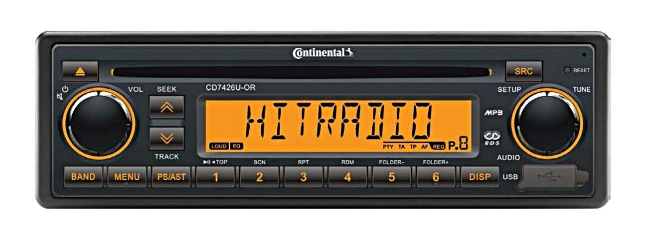 Continental WMA CD RADIO USB MP3 WMA Continental 24V Stiefel CD7426U-OR 74302e