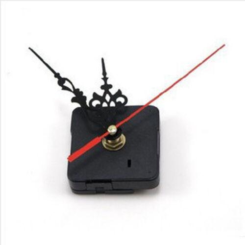 Delicate Quartz Movement Silent Clock Mechanism Black and Red Hand Part Kit #FAX