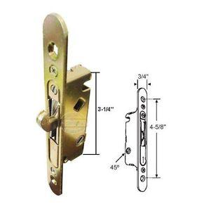 Sliding Patio Door Mortise Lock W Faceplate 45 Degree 4 5 8