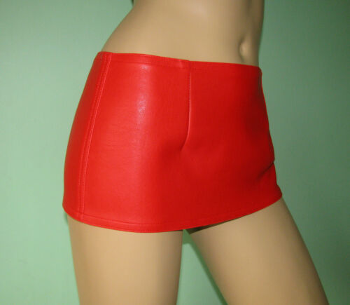 Red fake leather micro hipster mini skirt  all sizes free UK delivery