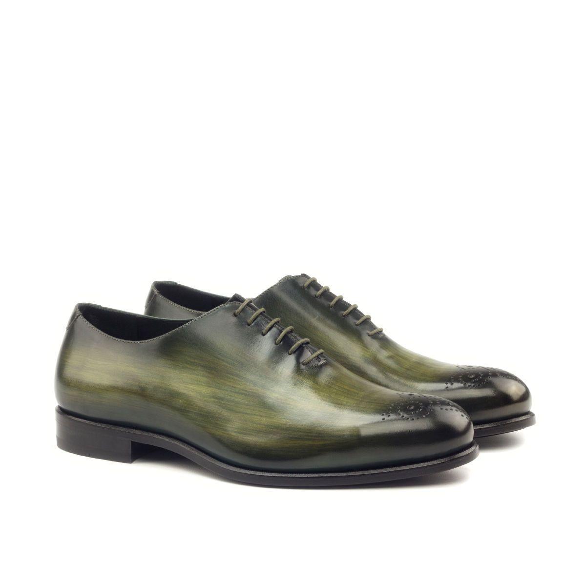 Handmade Leder Olivgrün Patina Schnürer für Herren Maßgefertigt Man Kleid Schuhe