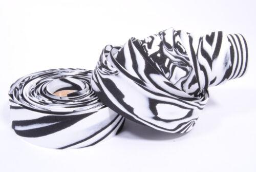 Padded EVA Foam Bicycle Bike Bar Handlebar Tape Ribbon White//Black Swirl//Zebra