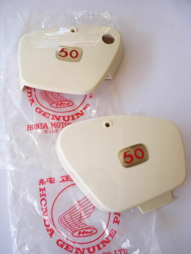 NOS Side Cover emblem 50 HONDA C100 CA100 C102 CA102 JP