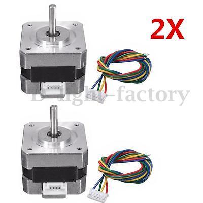 2pcs Nema 17 Stepper Motor 28N.cm 0.4A 18° 12V For CNC Reprap 3D printer DIY