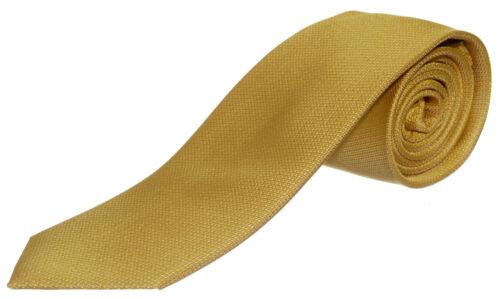 Seidenkrawatte uni  gelb 100/% Seide Krawatte  Monti Herren einfarbig