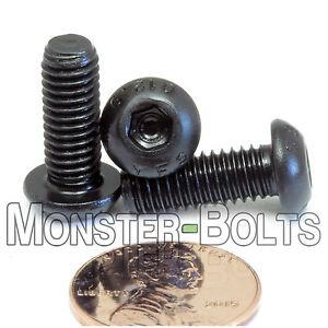 M4-0.70 x 8mm Button Head Socket Caps Screws 12.9 Alloy Steel Blk Ox ISO 7380