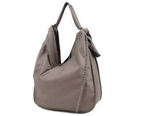 David Jones faux leather handbag shoulder strap dark brown