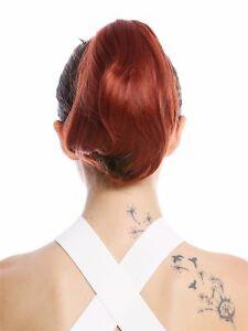 Postiche-Tresse-Queue-de-Cheval-Epingle-a-Cheveux-Papillon-Court-Lisse-Cuivre