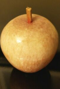 Hand Carved Solid Wood Apple
