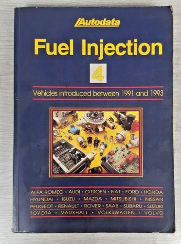 AUTODATA LIBRO iniezione di carburante dei veicoli 4 ha introdotto tra 1991 e 1993