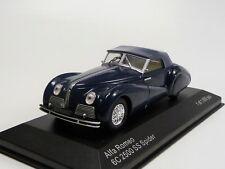 1:43 Lim 1000 Stück WB219 Whitebox Alfa Romeo 6C 2500 SS Spider blau blue