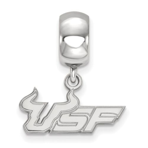 University of South Florida Bulls Small Dangle Bead in Sterling Silver 3.12 gr