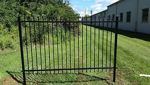 residential/commercial Black Fencing Galvanized Steel With Zinc Electroplate