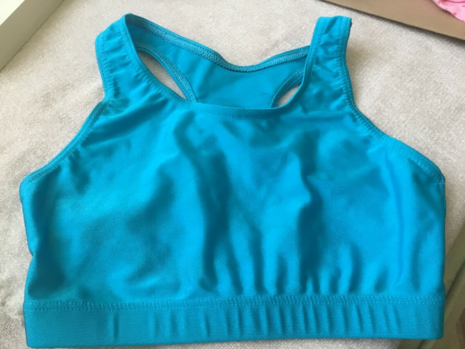 ROCH VALLEY dance cropped top in LIGHT BLUE, size 3A ; 141-150cm