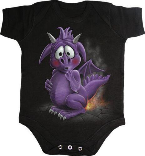 baby body SPIRAL Gothic Babybody Strampler Dragon Relief Drache Pupsi 159061
