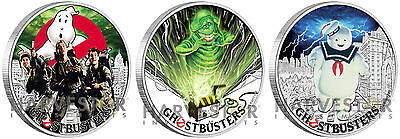 2017 GHOSTBUSTERS COIN SERIES OGP ALL COINS IN SERIES COMPLETE 3-COIN SET