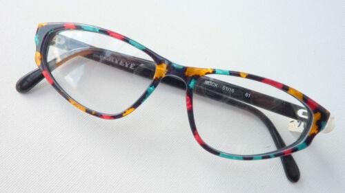 Bunt Schmetterlingsbrille Size Damen M Neu Occhiali Mehrfarbig Brille Katzenauge 14E5w7q