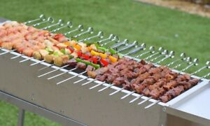 """Charbab Grill 32"""" DELUX Stainless Charcoal Kebab Grill"""