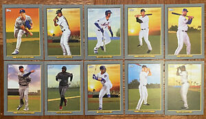 Topps-2020-Series-1-Turkey-Red-Lot-Of-10-Buehler-Chapman-McNiel-Machado-Gallo