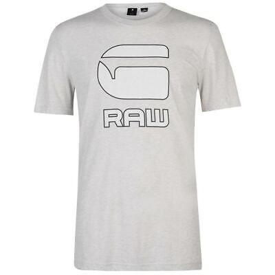 GSTAR RAW cadulor Large Logo T shirt homme gris clair manches courtes Taille UK M * 42 | eBay
