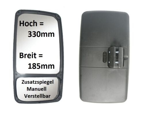 Ersatzspiegel passend für Fendt 820 Vario TMS 330x185mm ø16-26mm Spiegel Rechts