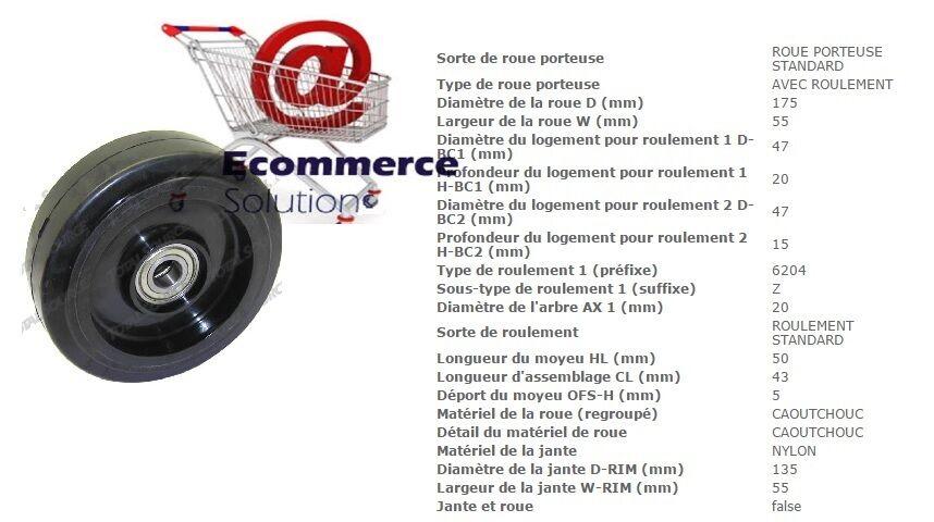 ROUE DIRECTRICE CAOUTCHOUC mm TRANSPALETTE MANUEL TOYOTA BT LHM300 175*55*20 mm CAOUTCHOUC e92eac