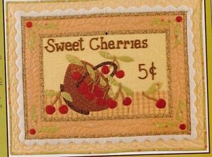 CLEARANCE-Sweet-Cherries-applique-amp-pieced-quilt-PATTERN-Fig-Tree-amp-Co