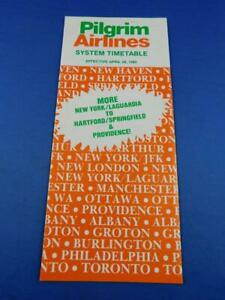 PILGRIM-AIRLINES-SYSTEM-TIMETABLE-SCHEDULE-ADVERTISING-APRIL-1985-TRAVEL
