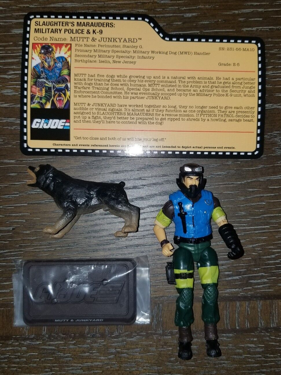 G.I.Joe con 2018 convention exclusive Slaughters Marauders Mutt & Junkyard