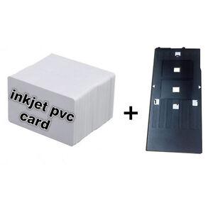 inkjet pvc id karte kit 10 inkjet id karte 1 karten beh lter f r epson r200 ebay. Black Bedroom Furniture Sets. Home Design Ideas