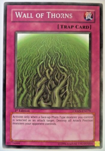 YUGIOH WALL OF THORNS CRMS-EN079 1st EDITION RARE