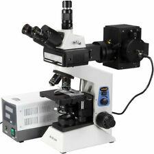 Amscope 100x 1000x Infinity Plan Epi Fluorescent Trinocular Compound Microscope