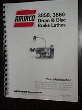 Ammco 3850 3860 Brake Lathe Parts Manual