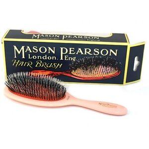 53aa47b265445 Mason Pearson HANDY Brush BRISTLE   NYLON BN3 Brush Pink Hair Brush ...